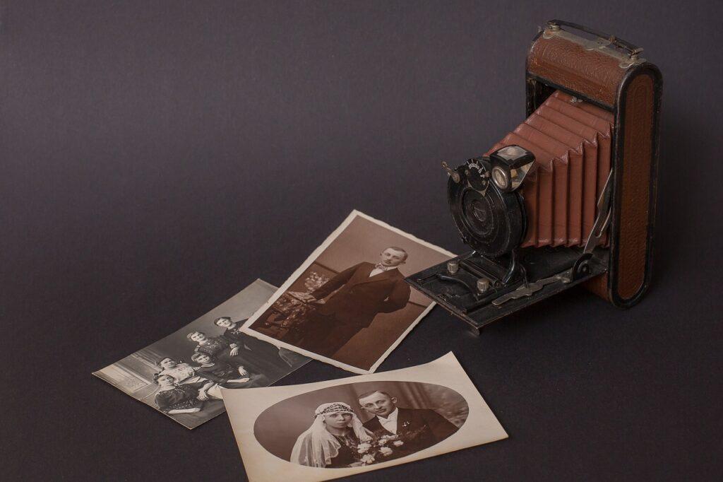 camera, old, nostalgia